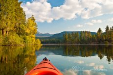 Kayaking on Manzanita Lake